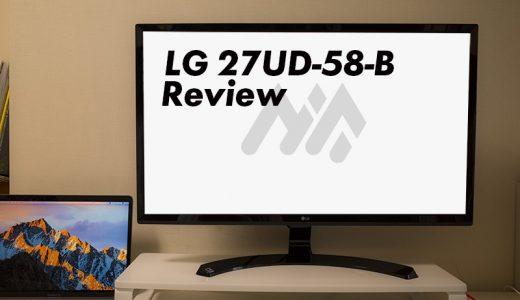 MacBookProと相性抜群!外部4Kモニタ「LG 27UD58-B」レビュー